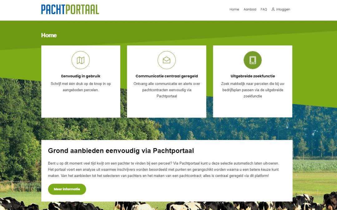 P8 Software B.V. lanceert landelijk Pachtportaal